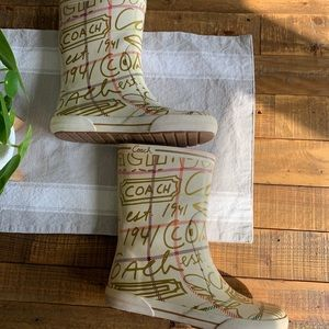 Women's Coach Rainboots